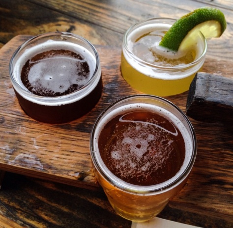 Wicked Weed's World Cup beers: (from left) France; Brazil; Mexico