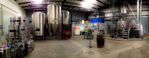 the brewery at Jackalope Brewing Company