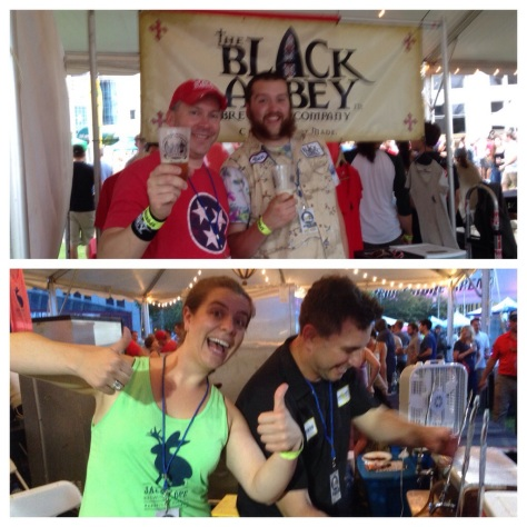 top: Carl Meier & Ben Martin of Black Abbey; bottom: Jackalope's Bailey Spaulding & Steve Wright
