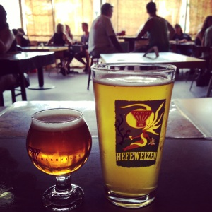 Hop Project 78 and Brett Saison at Yazoo, one of the participating breweries in the Nashville Beer Festival 2014